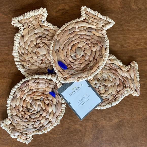 NWT Threshold Fish Coasters | Set of 4